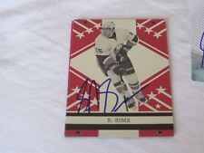 SHANE SIMS AUTOGRAPHED 2011-2012 OPC ROOKIE CARD