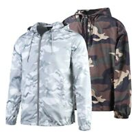 Beautiful Giant Men's Hooded Lightweight Windbreaker Outdoor Jacket Camo S - 3XL
