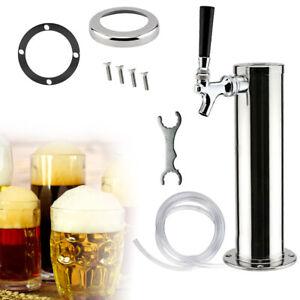 "Single Faucet Kegerator Draft Beer Tower for Bar Pub 3""Diameter Stainless Steel"