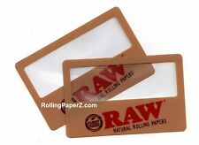TWO New! RAW Rolling Papers Magnifier Scooping Cards - SEE WHAT YOU ARE SMOKING!