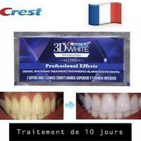 Crest 3d white 20 Bandes Patch dentaire 10 Jours De Traitement. France
