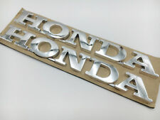 Chrome 3D Fuel Tank Emblem Decal Rear Box For Honda Badge ABS Sticker Motorcycle