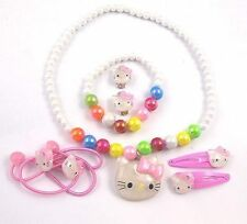 A Girls Kitty Jewellery Set  N1284  s0335