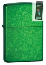 Zippo 24840 meadow green finish Lighter + FLINT PACK