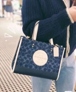 NWT COACH C2826 Dempsey Carryall In Signature Jacquard With Patch