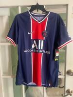 Men Nike Paris Saint-Germain 2020/21 Vaporknit Match Home Jersey CD4189-411 Sz L