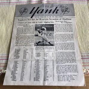 Rare Larry Macpail (D.1975)Signed NY Yankees Yank Newsletter Vol 1 #3  JSA