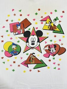 Vintage 90s Mickey Unlimited Disney Mickey Mouse Stars Graphic T Shirt 3XL Rare