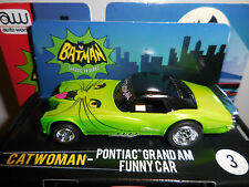 AUTO WORLD ~ Catwoman Pontiac Grand AM ~ NEW IN JEWEL CASE ~ Fits AFX, AW, JL