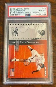 2003 Netpro Elite Star International Series /500 #14 Pete Sampras PSA 10 Gem