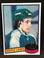 1980-81 TOPPS HOCKEY BILL DERLAGO ROOKIE CARD #11 TORONTO MAPLE LEAFS NMT/MT-MIN