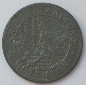 Emergency Coin, Kreisverwaltung Mettmann To 10 Pf. 1917 (Art.3840)