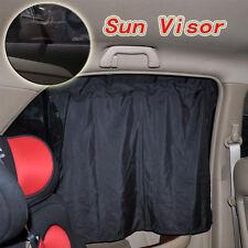 2X Black Car Sun Shade Curtain UV Proof Side Window Silk Cloth Curtain Sun Visor