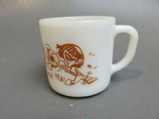 vintage Beatles Yea! Yea! mug federal Milk Glass glass  D Handle