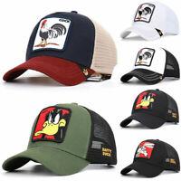 Men Women Daffy Snapback Cap Animal Baseball Cap Hip Hop Hat Trucker Mesh