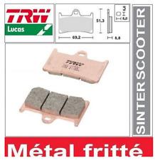 2 Plaquettes frein Avant TRW MCB611SRM Métal Fritté  Yamaha T-MAX 530 2012->