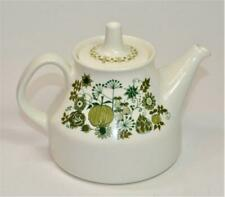 "FIGGJO TURI Design Made in Norway Green MARKET Pattern 5 1/2""h 2 Cups Teapot"