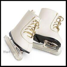 NEW IN BOX American Girl Retired Fancy Ice Skates White & Gold