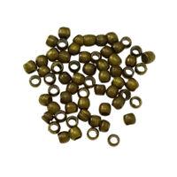 350 Quetschperlen Quetschröhrchen 2mm Rund Bronze Perlen Crimps BEST M68
