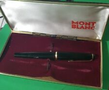 """MONTBLANC"" 32 Black Resin 14K 585 Gold Fountain Pen +box"