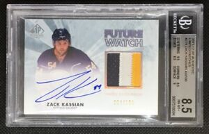 2011-12 SP Authentic Future Watch Limited Auto Patch Zack Kassian /100 3 COLOR