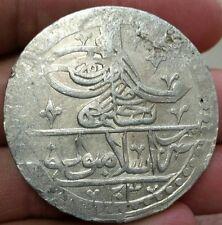 Silver Yuzluk Ottoman Empire Selim III  1789–1807 AD, 45 mm/32.11grams