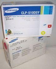 2 x Samsung genuine CLP-510 toners magenta, yellow CLP-510D5M,510D5Y for CLP-510