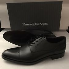 New $695 Ermenegildo Zegna Leather Shoes Black 7 US ( 40 Eu ) Ita