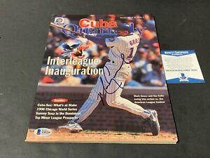 Mark Grace Cubs Autographed Signed Cubs Quarterly Magazine June 97 . Beckett COA