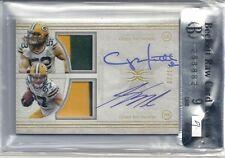 Clay Mathews auto patch Jordy Nelson autograph patch #'d 2/15 Packers BGS 9 MINT