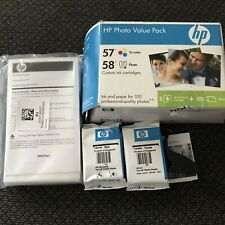 HP 57, 58 Combo Pack Ink Cartridges And 100 Pack Photo Paper