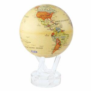 Mova Political Map Yellow Globe 4.5 Inch Solar Power