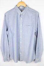 Gant American Cotton Men Formal Shirt Blue Striped Cotton size L 41/42 16.5