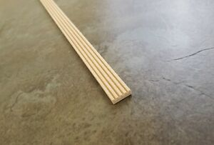 """Dollhouse Miniatures Grooved Trim Molding Flat Back 7/16"""" wide x 18"""" 1:12 HW7075"""