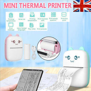 PeriPage Printer Thermal Photo Portable Wireless Mini Pocket With 10 Rolls Paper