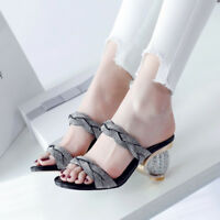 Fashion Womens Open Toe Slip On Sandals Hot Sale Wedge Heel Casual Shoes Pull On