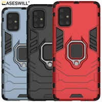 For Samsung Galaxy M31S Rugged Armor Hybrid Ring Holder Kickstand Case Cover