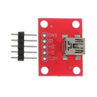 USB Mini B Female Module Breakout Board 5V Power Supply PCB