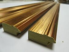 2.65m (48&76cm lengths)  31mm Gold Flat Polcore Picture Frame Moulding
