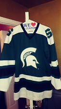 Colosseum Michigan State Spartans Throwback Hockey Starter Jersey Large Nice!