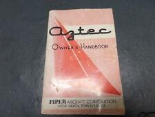 PIPER PA-23-250 AZTEC AIRCRAFT AVIATION ORIGINAL OWNERS HANDBOOK MANUAL