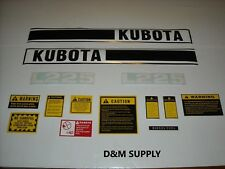 Kubota L225 tractor decal set with generic caution kit