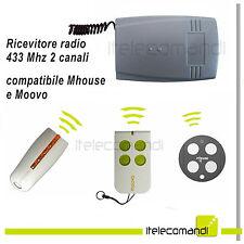Ricevente radio ricevitore 433 Mhz 2 canali compatibile con Mhouse e Moovo