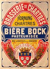 BIERE BOCK, Vintage Beer Advertising Reproduction Rolled CANVAS PRINT 24x32 in.