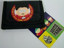 "New South Park Cartman Black Tri-Fold Wallet ""Kickin It w/G's On"" Comedy Central"