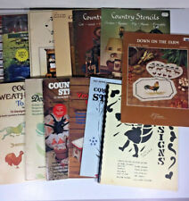 14 Vintage Stencil Books and Booklets Patterns and Designs How To Book