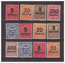 Deutsches Reich Sammlung Dienstmarken aus Mi.75-98 ungebraucht Falz