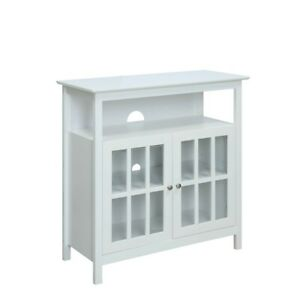 Convenience Concepts Big Sur Highboy TV Stand, White - 8066070W