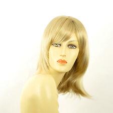 Perruque femme mi-longue blond doré méché blond très clair TAMARA 24BT613
