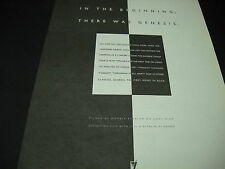 GENESIS In The Beginning There Was Genesis 1989 PROMO DISPLAY AD mint cond